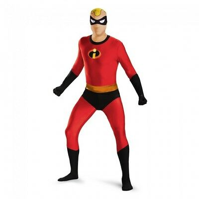 Disguise Mens Mr. Incredible Bodysuit Skinovation Teen Costume Red Medium