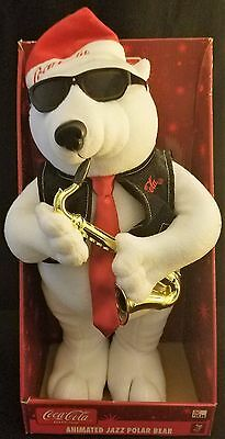 Coca Cola Animated Jazz Polar Bear playing saxaphone, plays two songs