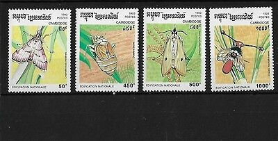 Cambodia Sg1335/8, 1993 Harmful Insects Mnh
