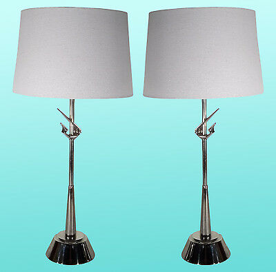 Mid-Century Rembrandts Chrome Lamps - A Pair
