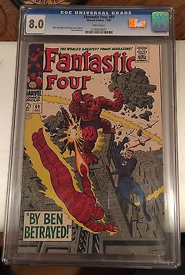 FANTASTIC FOUR #69 white pages CGC 8.0 CANADA SELLER