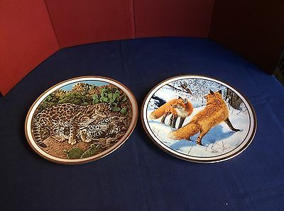 """2 Decorative Plates 'The American Wildlife Plate Collection"""" Lenox -1982"""