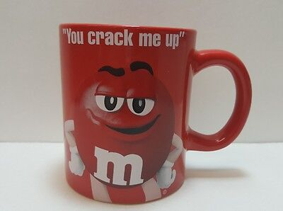 M&M Red Coffee Mug, **YOU CRACK ME UP**, GORGEOUS CUP, 2016