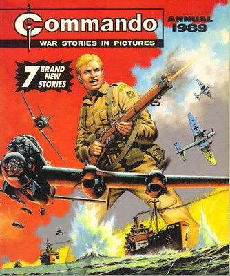 COMMANDO ANNUAL 1989 - D C THOMSON 1988 1st Ed PB - WAR STORIES IN PICTURES