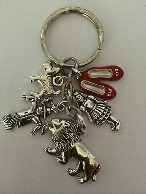 Wizard of Oz Antique Silver Colour Key ring lovely present in gift bag