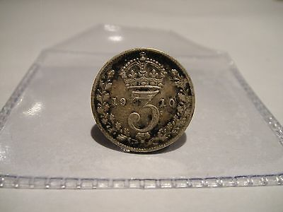 King Edward Vii 1910 Threepence 3D Coin .925 Silver Great Britain Uk