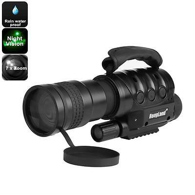 Night Vision Monocular - 7x Zoom, 1000m Detection Range, Weatherproof, Built-in