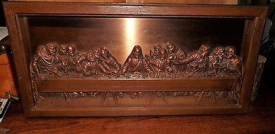 Mid-Century Modern Coppercraft Guild The Last Supper Copper Wall Art Plaque Deco