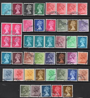 45 Fine Used(Ex FDCs) Machins Including 4-Block & 2 Strips See Scan For Detail