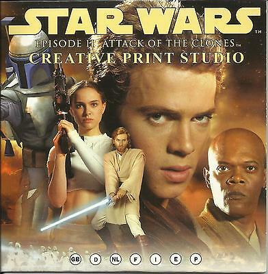 Star Wars PC CD-ROM Epson Creative Print Studio Ep II Attack of the Clones