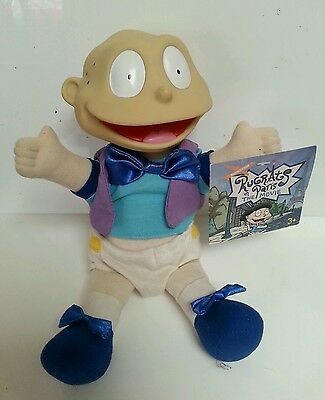 "RUGRATS - Tommy Pickles Rugats In Paris Movie 10"" Soft Toy Tagged Plastic Head"