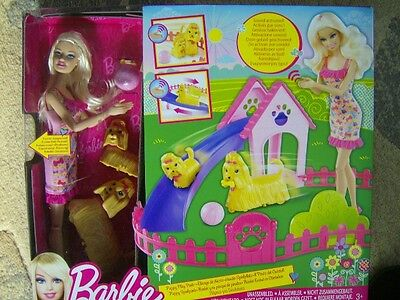 2011 Boxed Barbie Puppy Play Park Set