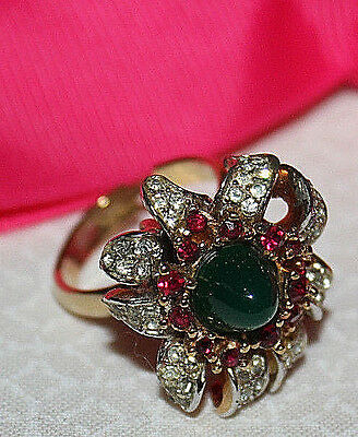 Dazzling Boucher Signed And Numbered Fancy Cocktail Ring - Rare And Stunning