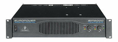 Behringer EP2000 DJ/Club Hi-Quality 2000W Power Amplifier Amp 2U -MINT-