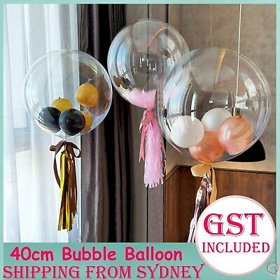 50cm Super Transparent Bubble Balloon Jumbo Clear Helium Gas Latex Party Wedding
