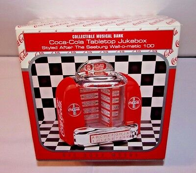 Coca Cola Tabletop Jukebox Wall-O-Matic 100, NEW Diecast Musical Bank by Enesco