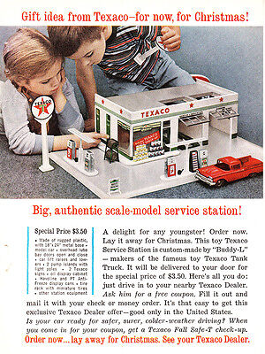 1960 Texaco: Scale Model Service Station (24335) Print Ad