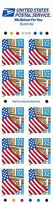 U.S. BKLT PANE OF 10 SCOTT#2920De 1995 32ct FLAG/PORCH MINT VAR P#'s AT FACE