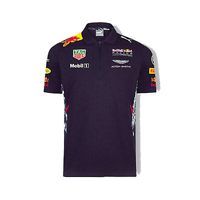 Red Bull Racing Mens Team Polo Shirt Top Formula 1 Sizes S M L Xl 2Xl