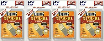 4 Pairs (8 Individual) HotHands Adhesive Toe Warmers Value Pack