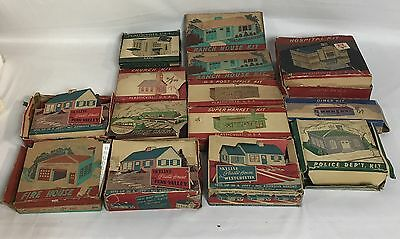 14 Vintage Bachmann Plasticville USA Houses Buildings Model Kits