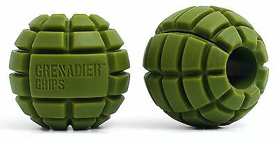 Grenadier Grips - Unique Fat Bar Dumbell/Barbell Grips For Huge Size gains