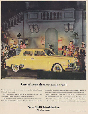 1948 Studebaker: Car Of Your Dreams Come True (27846) Print Ad