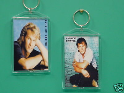 PATRICK SWAYZE with 2 Photos Designer Collectible GIFT Keychain