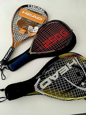 Racketball Rackets Huge Lot, Gently Used , Brand New HEAD Cases