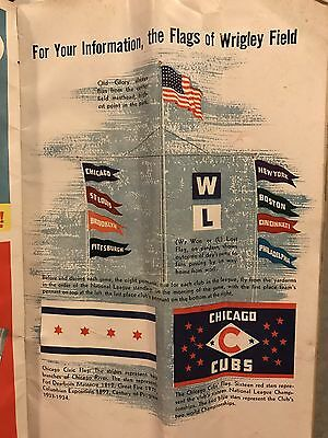 1947 Chicago Cubs vs St Louis Cardinals Program Wrigley Field W Flag