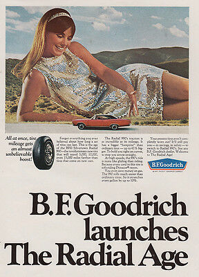 1968 BF Goodrich: Launches the Radial Age (27093) Print Ad