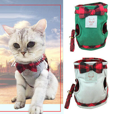 Pet Cat Walking Harness Leash Kitty Clothes Puppy Harness Vest Jacket Flowery