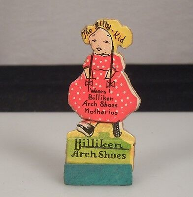 Vintage Billiken Arch Shoes Advertising Cut-Out -The Billy Kid