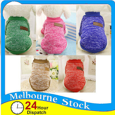 Cute Pet Dog Jumper Sweater Clothes Puppy Warm Cat Knitwear Knitted Coat Winter