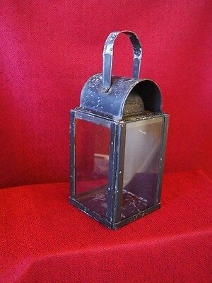 NSWGR antique tin plate railway station platform lantern with candle holder