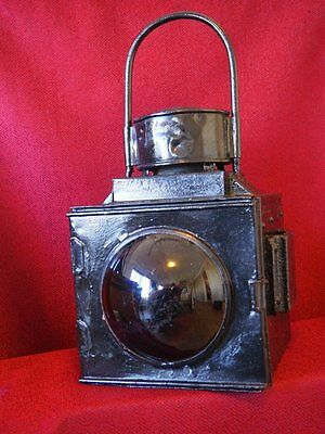 QR Queensland Railways large early shunters lamp with original brass burner