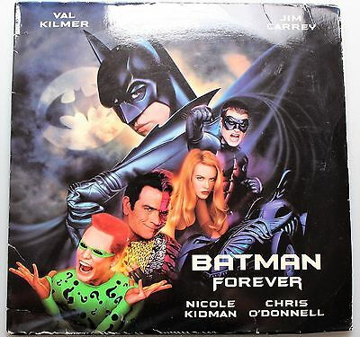 Widescreen Laser Disc BATMAN FOREVER: Val Kilmer/Jim Carrey/Tommy Lee Jones
