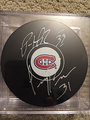 Carey Price, Patrick Roy Montreal Canadiens Dual Signed Puck / Coa