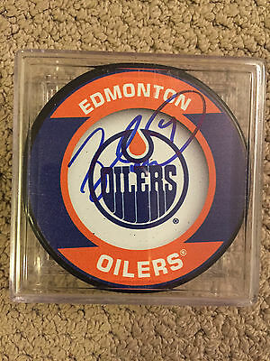 Taylor Hall Edmonton Oilers Signed Puck / Coa Mile High Collectibles