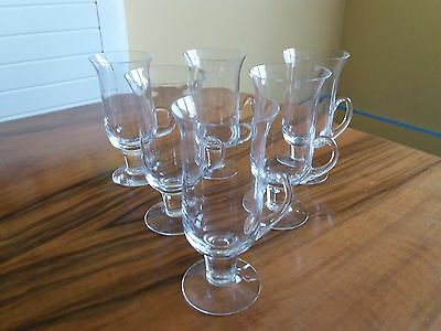 SET of 6 DARTINGTON CRYSTAL IRISH COFFEE GLASSES - FT83 Des. By Frank Thrower