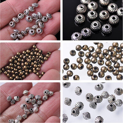 3mm 4mm 5mm Metal Tibetan Silver Spacer Beads Lot Charms DIY Jewelry Making