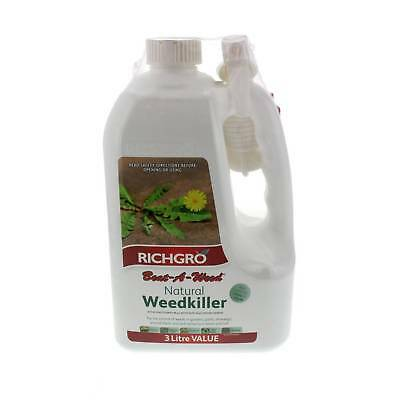 Beat A Weed Natural Weedkiller Ready To Use 3L Richgro Fast Killer Dehydrating