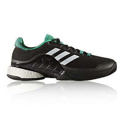 Adidas Barricade Boost 2017 Mens Black Tennis Court Sports Shoes Trainers
