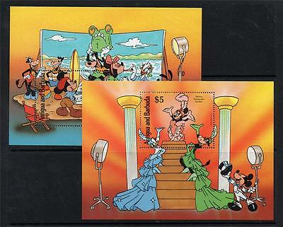Antigua & Barbuda Mnh 1990 Ms1428 Mickey Mouse In Hollywood