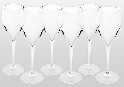 Laurent - Perrier Branded Champagne Glasses X 6 New
