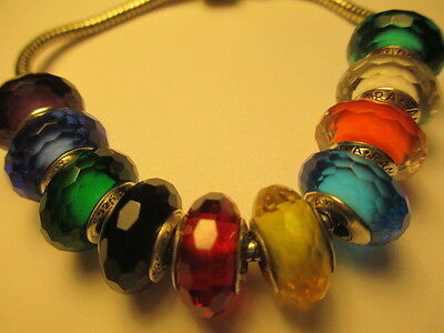 10 PCs Authentic Pandora Silver 925 Ale Fascinating Red Green Mix Bead Charm New
