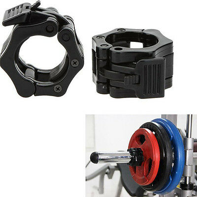 25mm Weight Lifting Bar Collars Fitness Gym Standard Barbell Lock Clamp Collar