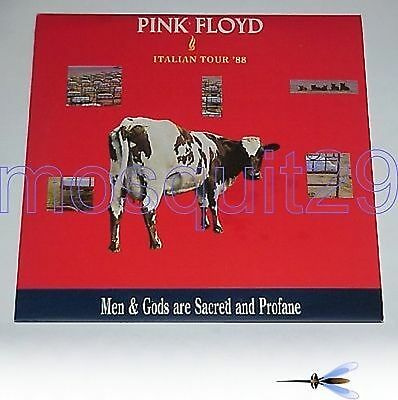 "Pink Floyd ""italian Tour '88 Men And Gods"" Rare Triple Lp Italy"