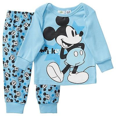 NWT Disney Licensed Boys Mickey Mouse Long Sleeve Top Pants Pyjamas Size 00