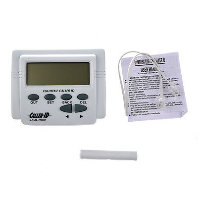 10X(White handset display DTMF FSK Caller ID Box with Call History)PA